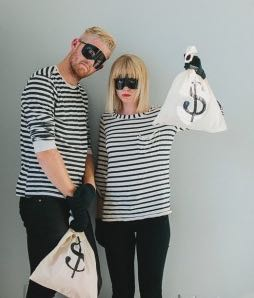 Bank robbers couples costume